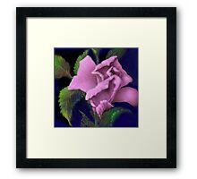 'Pink Parfait' Digital Rose Painting, Baroque Roses Framed Print