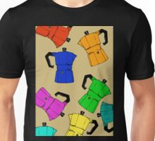 coffeepot colorful pattern Unisex T-Shirt
