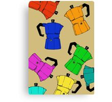 coffeepot colorful pattern Canvas Print