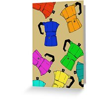 coffeepot colorful pattern Greeting Card