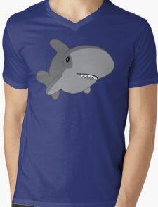 Dorky Shark Mens V-Neck T-Shirt