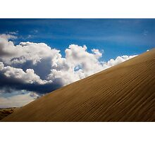Sand Dune and Clouds Photographic Print