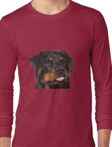 Cute Rottweiler With Tongue Out Long Sleeve T-Shirt