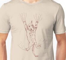 Kitten Scratching Sketch 2 Unisex T-Shirt