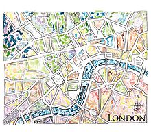 Map of London MADMAPS by Victori Vincent Photographic Print