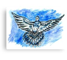 Dove in the Sky Canvas Print