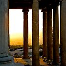 Sunset From The Back Porch Of The Erectheum by photosbyflood