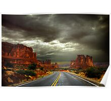 Roadway to Arches Poster