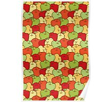 Apple Seamless Pattern Poster