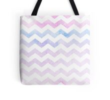 Watercolor Chevron Patterns Pink and Blue  Tote Bag