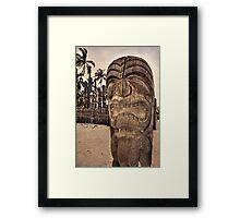 Hawaiian tiki warrior Framed Print