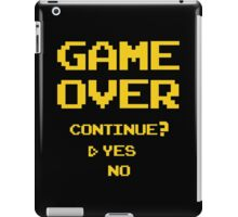 Game Over shirt, tank and more  iPad Case/Skin