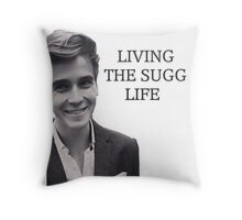 Living the Sugg life Throw Pillow