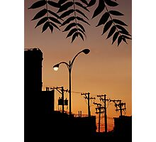 INDUSTRIAL SILHOUETTE Photographic Print