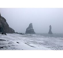 Beach in a Snowstorm Photographic Print