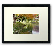 Fall on the Ganges Framed Print