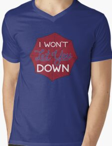 I Won't Let You Down Umbrella Mens V-Neck T-Shirt