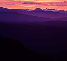 View over Cradle Plateau, Tasmania by Andy Townsend