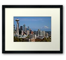 The Space Needle, Downtown Seattle Framed Print