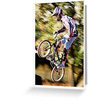 Star Rider - Expert BMX Greeting Card