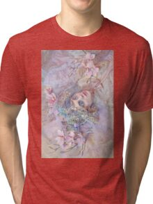 SNOW WHITE ROSE Tri-blend T-Shirt