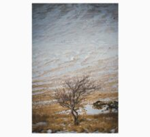 Solitary Tree against the Snowy Hillside Kids Clothes