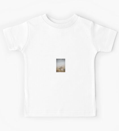 Solitary Tree against the Snowy Hillside Kids Tee