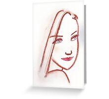 Lipstick Girl S Greeting Card