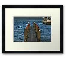 Pier Review? Framed Print