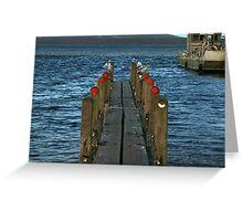 Pier Review? Greeting Card