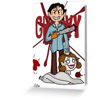 """Groovy"" - Evil Dead print Greeting Card"