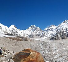 Himalayan Skyline by Laurette Ruys