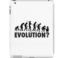 Evolution? Devolution of Man iPad Case/Skin