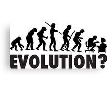 Evolution? Devolution of Man Canvas Print
