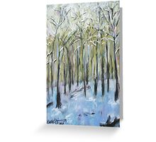 Winter lonliness Greeting Card