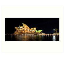 Sydney Opera House in Colour, June 2009. Art Print