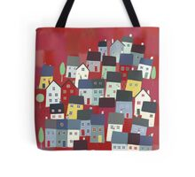 Red village Tote Bag