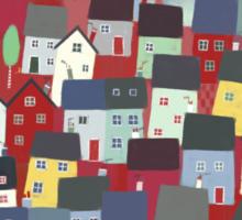 Red village Sticker