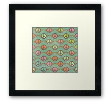 Peace Signs Framed Print