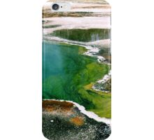 #550   Geothermal Pool In Yellowstone #1 iPhone Case/Skin