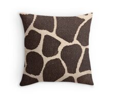Textured Giraffe Print Throw Pillow