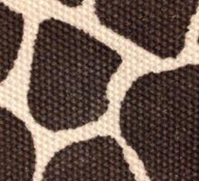 Textured Giraffe Print Sticker