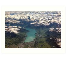 Lake Thun: North Face of the Eiger, Moench and Jungfrau Art Print