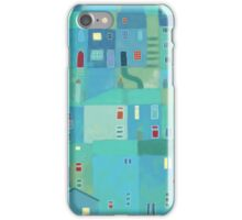 Blue town from the steps iPhone Case/Skin
