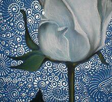 White Rosebud by Cherie Roe Dirksen