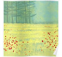 Meadow near Périgueux Poster