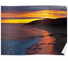 Coastal Sunset Poster