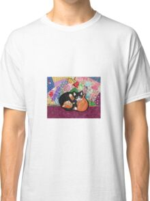 Kittens Playing On Heirloom Quilt Classic T-Shirt