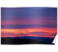 Cadillac Mountain Sunset Poster