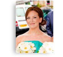 The Maid of Honour or the Chief Bridesmaid Canvas Print
